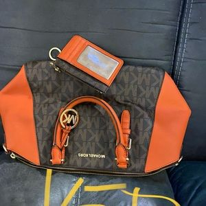 Michael Kors bag with matching ID/key holder